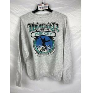 VINTAGE 90's University Of Park City Ski Sweater